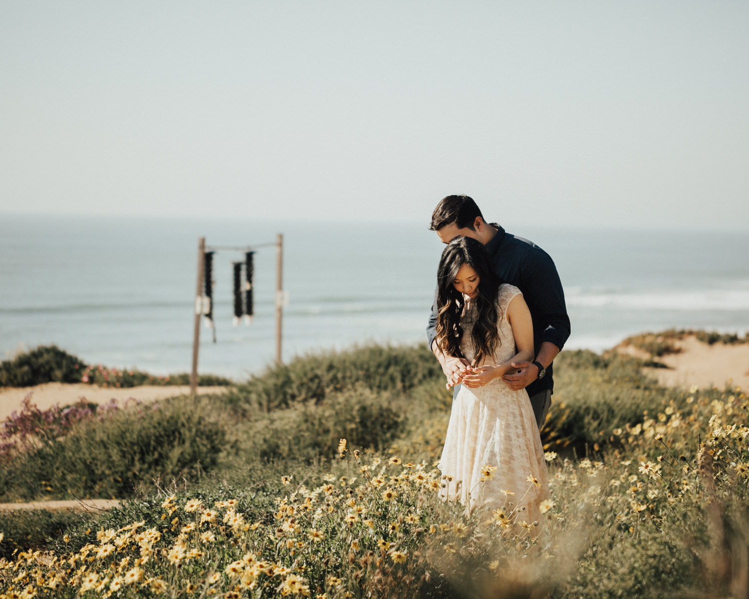torrey pines engagement session sweet moment