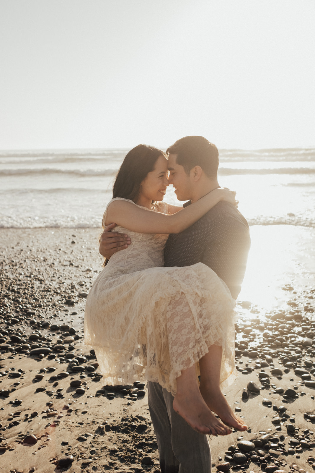 torrey pines engagement session love