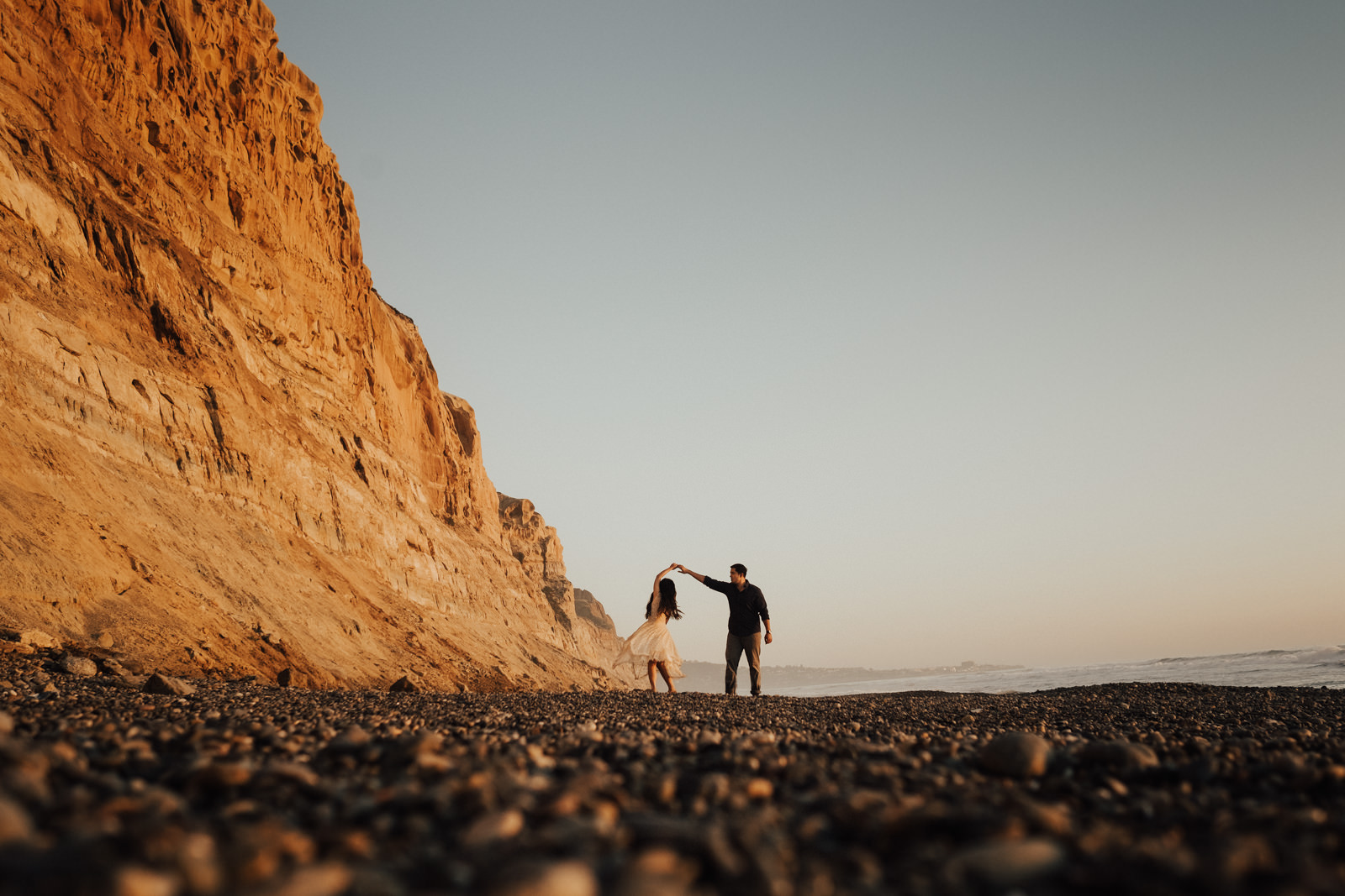torrey pines engagement session a twirl