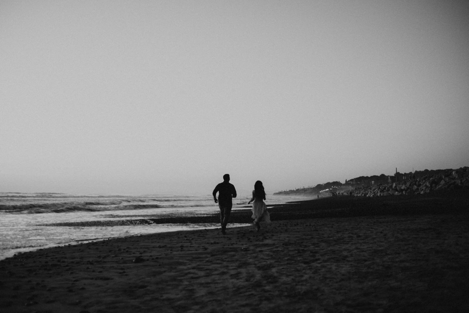 torrey pines engagement session at dusk