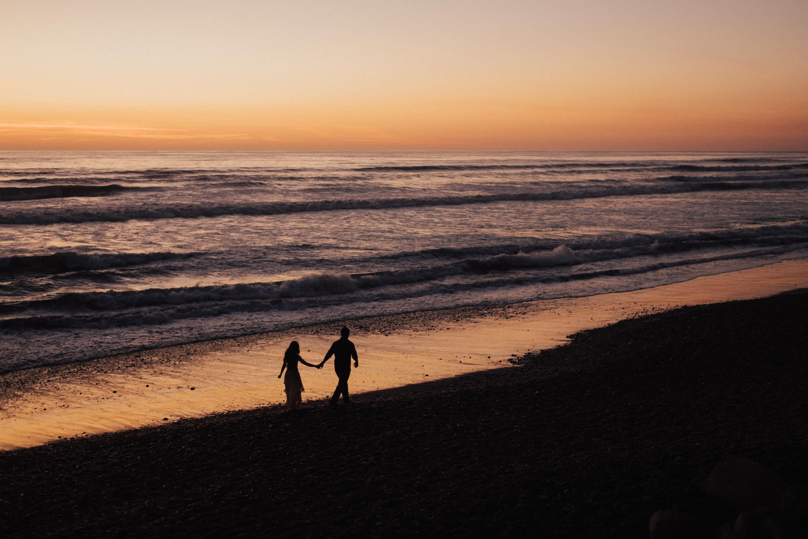torrey pines engagement session a walk in sunset