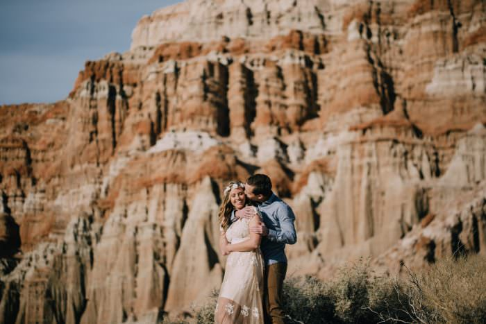 red rock engagement khoa photography