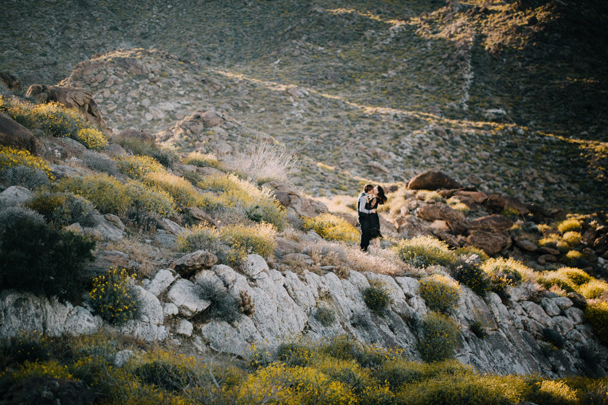 San Diego top 5 amazing engagement session locations anza-borrego super bloom engagement