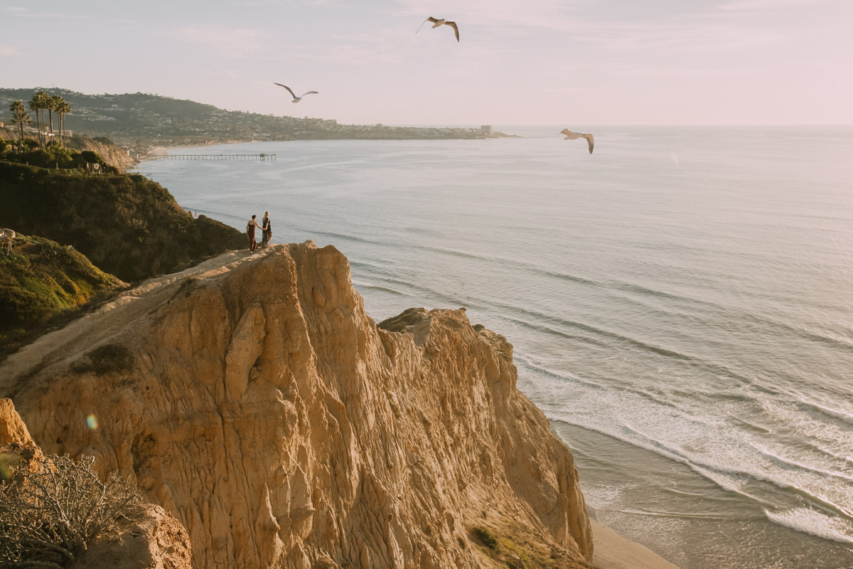 San Diego top 5 amazing engagement session locations coastline view engagement at ho chi minh trail