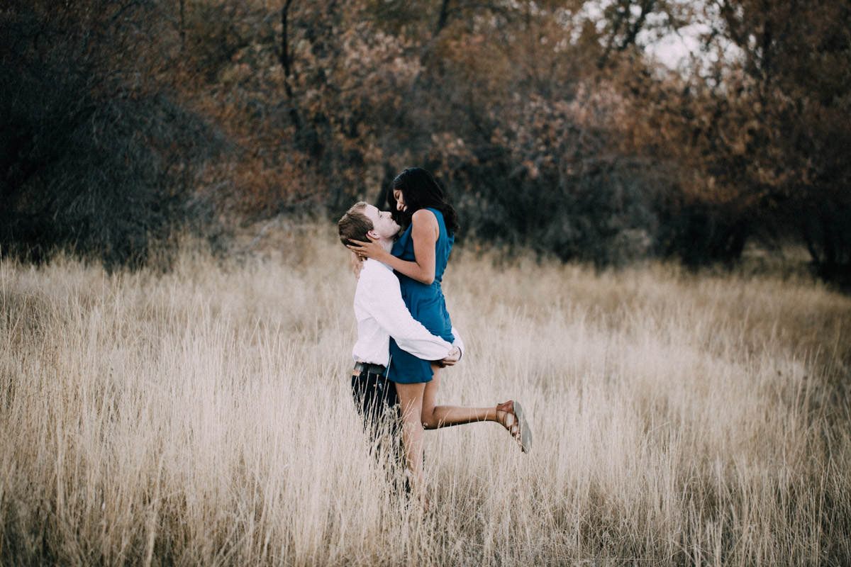 San Diego top 5 amazing engagement session locations playing and dancing at lake cuyamaca engagement