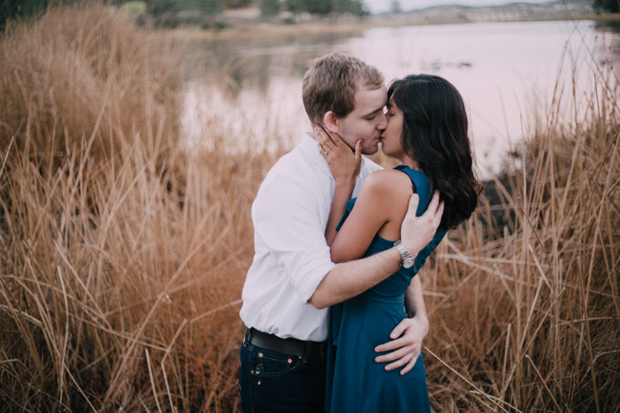 San Diego top 5 amazing engagement session locations spicy kiss at lake cuyamaca engagement