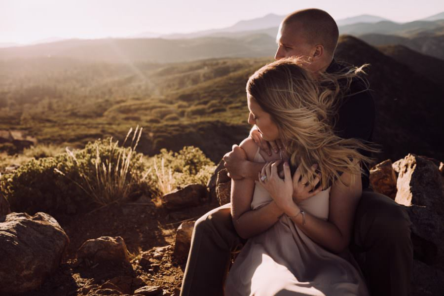 beautiful mount laguna engagement golden hour hold tight