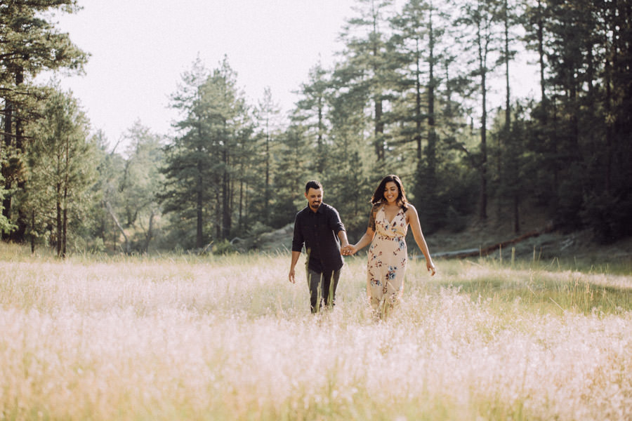 San Diego top 7 amazing engagement session locations amazing mount laguna engagement running through flower field