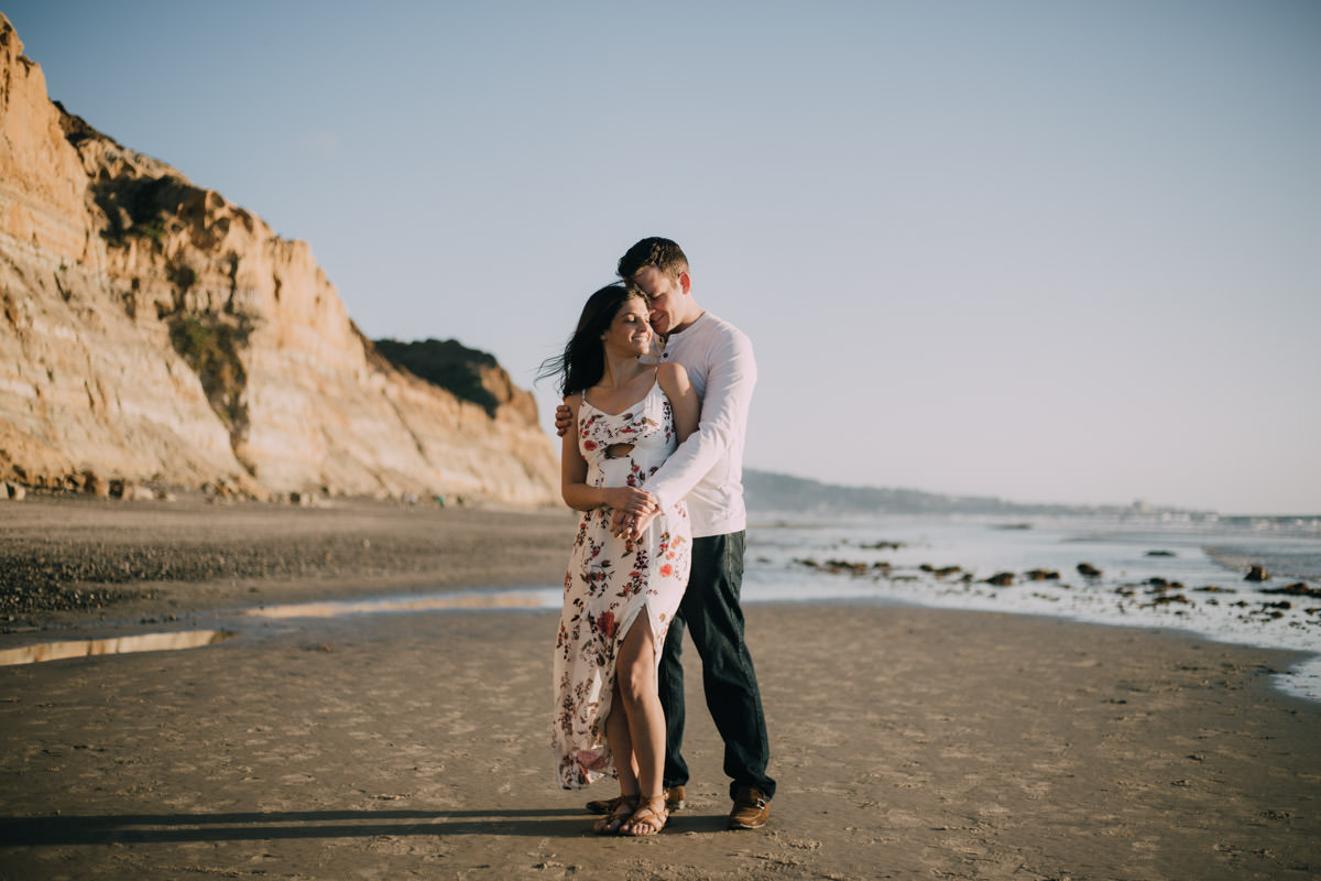 San Diego top 7 amazing engagement session locations torrey pines engagement cliffs and ocean sunset
