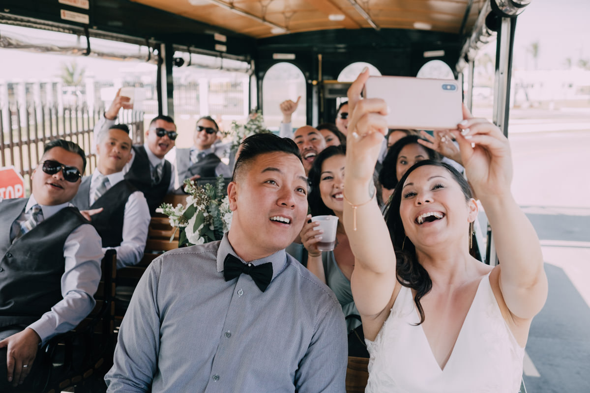 fort zachary wedding bus transportation