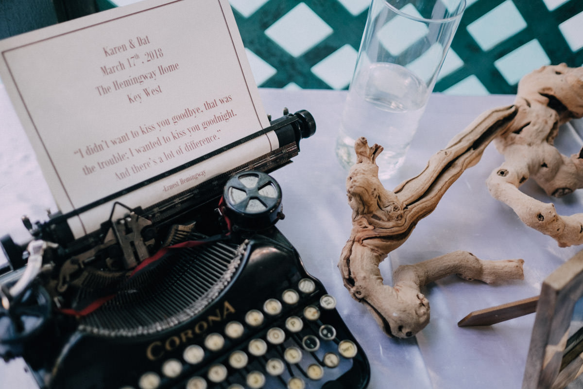 ceremony at hemingway home wedding key west florida 46