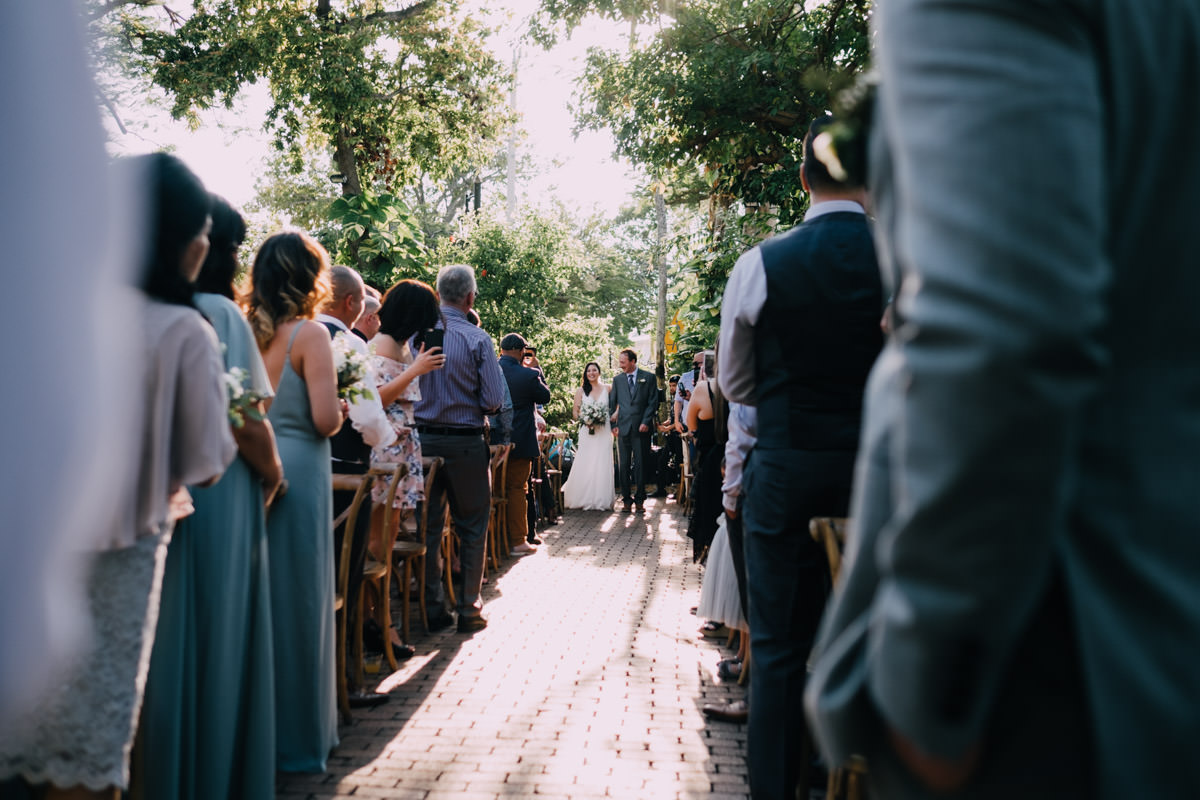 walk down the aisle at hemingway home wedding key west florida