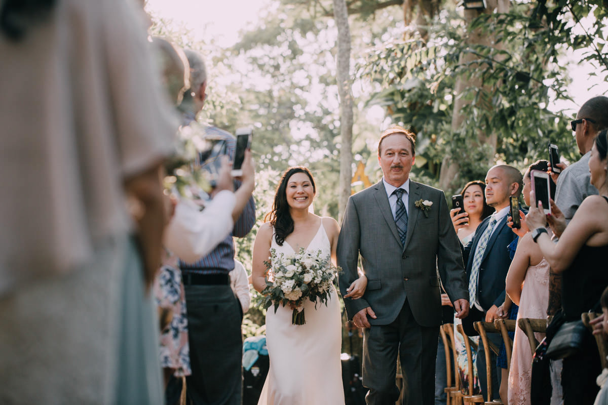 walk down the aisle at hemingway home wedding key west florida 1