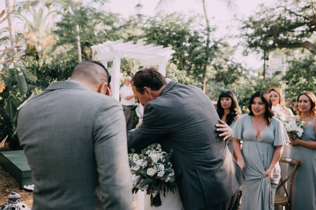 walk down the aisle at hemingway home wedding key west florida 2