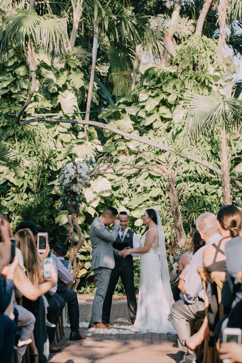 wedding ceremony at hemingway home key west florida