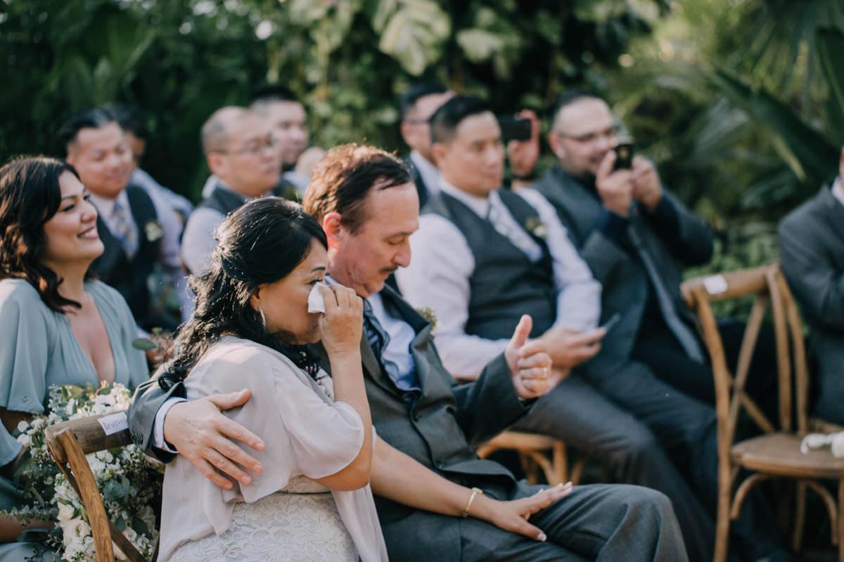 emotional wedding ceremony at hemingway home key west florida 54