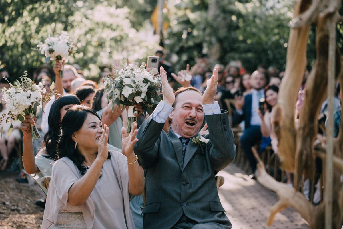 cheerful wedding ceremony at hemingway home key west florida
