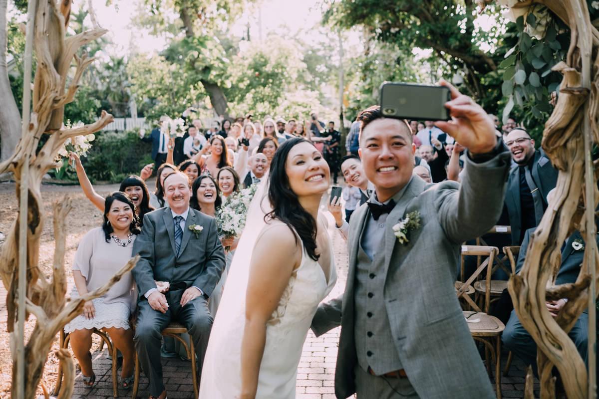 happy wedding ceremony at hemingway home key west florida