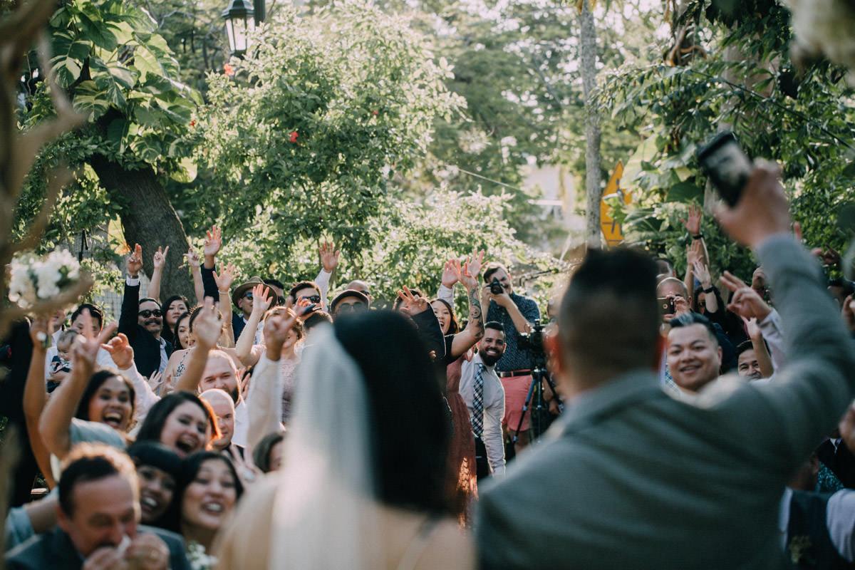 joyful wedding ceremony at hemingway home key west florida
