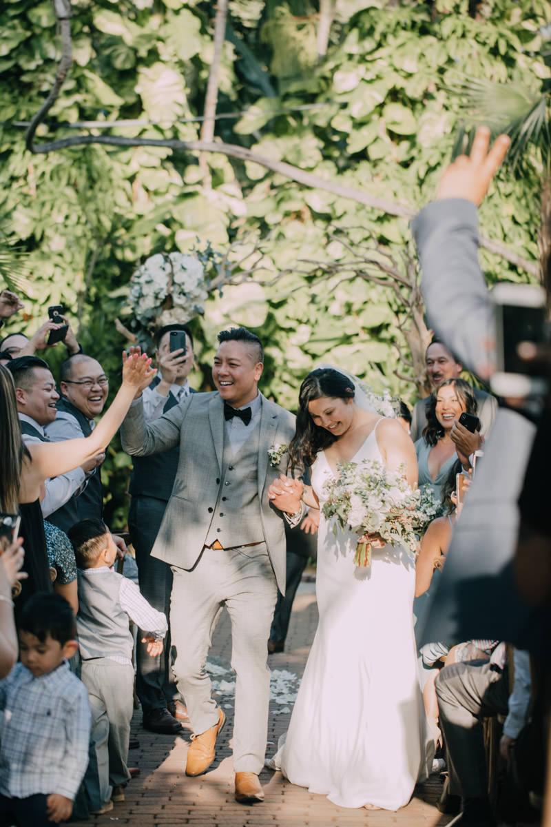 end wedding ceremony at hemingway home key west florida