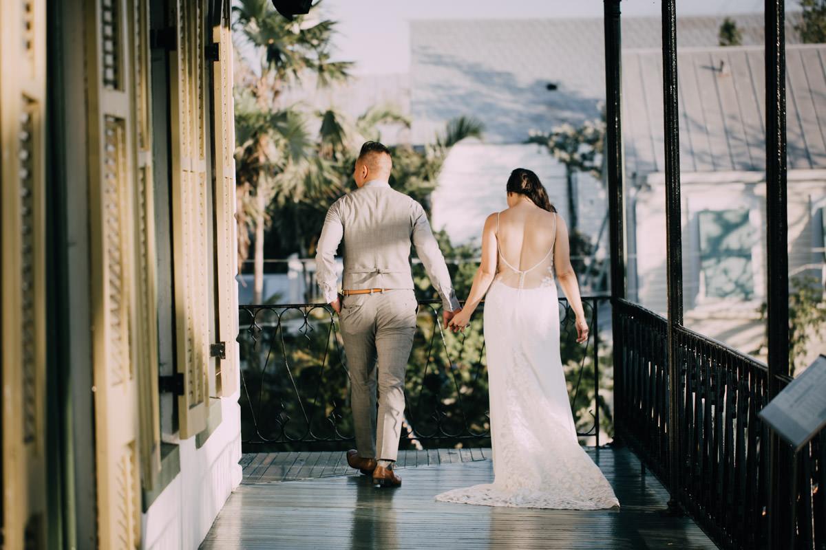 sunset portrait hemingway home wedding key west florida 2