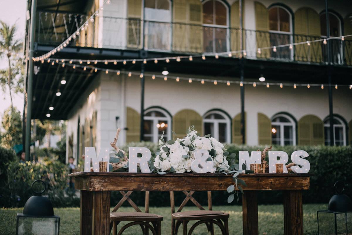 beautiful reception at hemingway home wedding key west florida 67