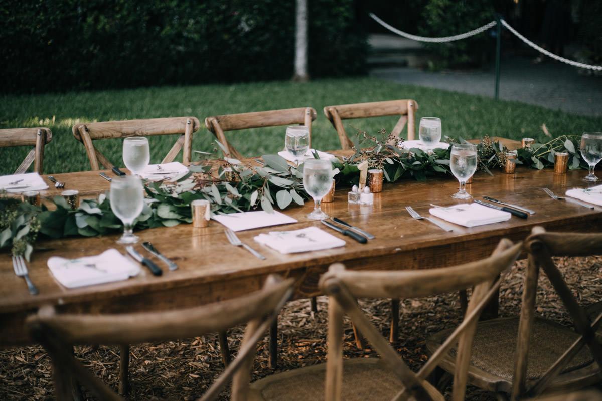 beautiful reception at hemingway home wedding key west florida 68