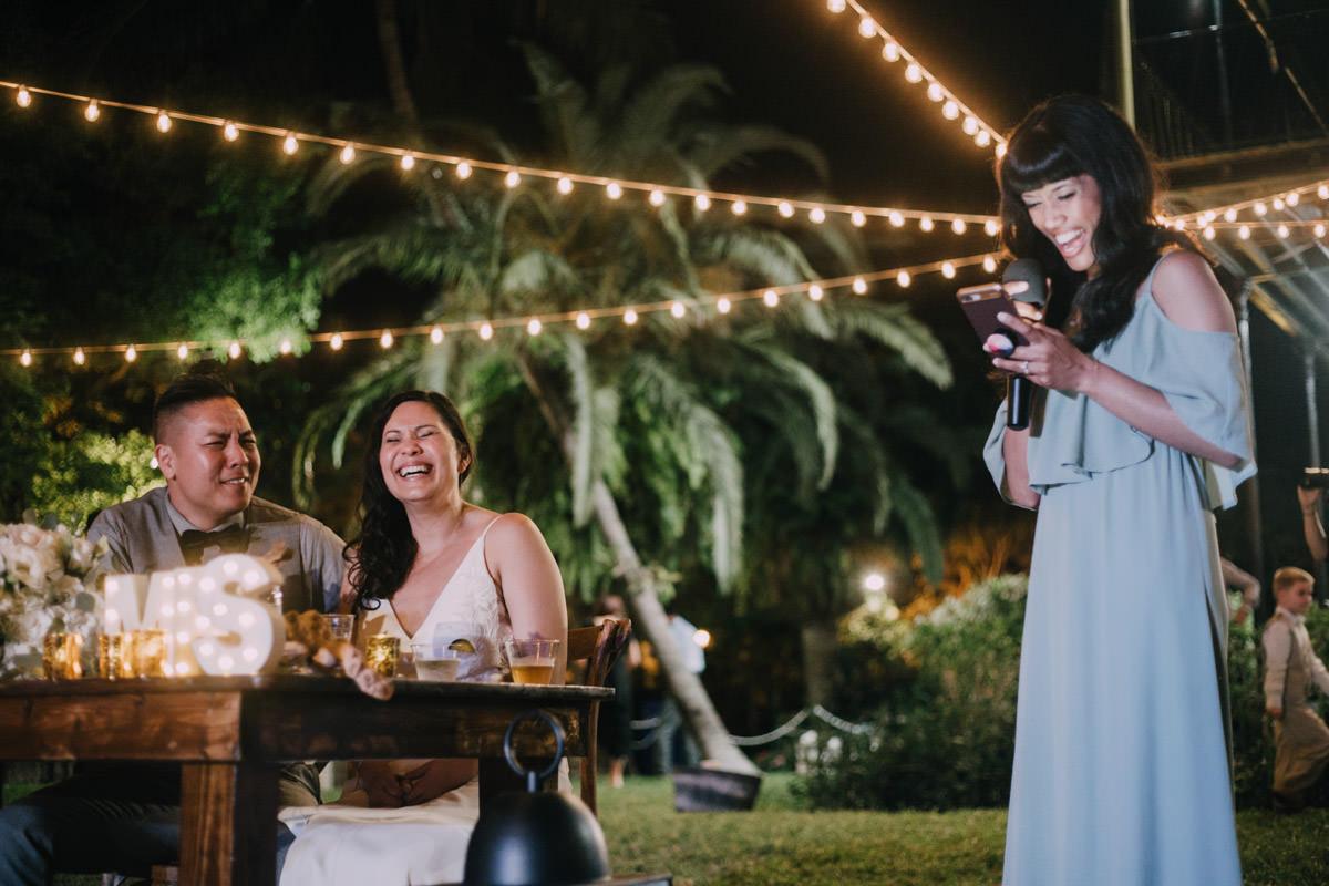 wedding reception toast at hemingway home key west florida