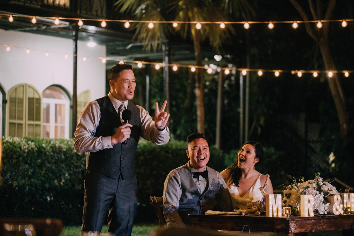 wedding toast at hemingway home key west florida 1