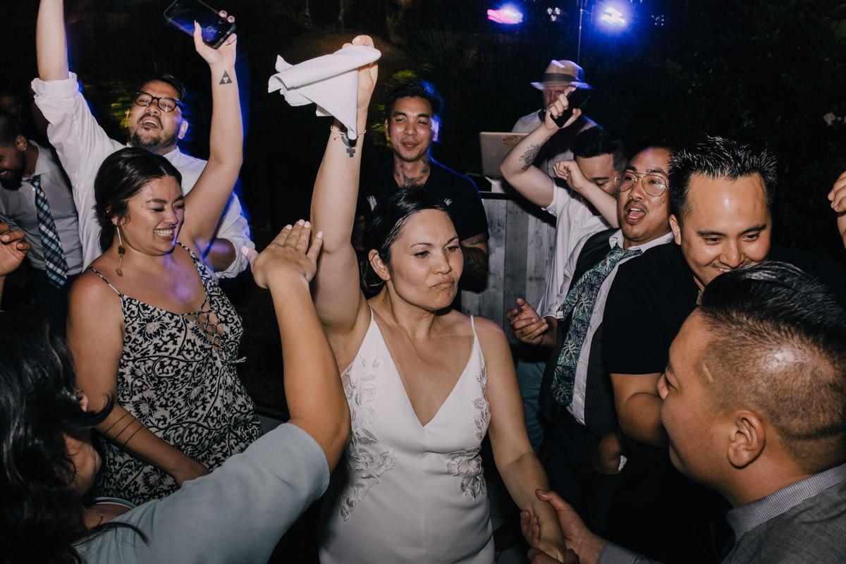 dance floor at hemingway home wedding key west florida
