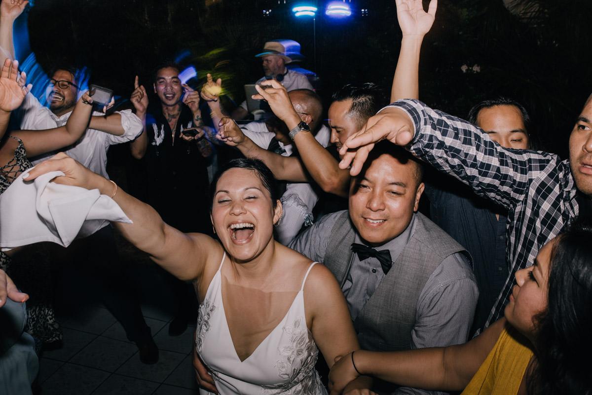 dance floor at hemingway home wedding key west florida 1