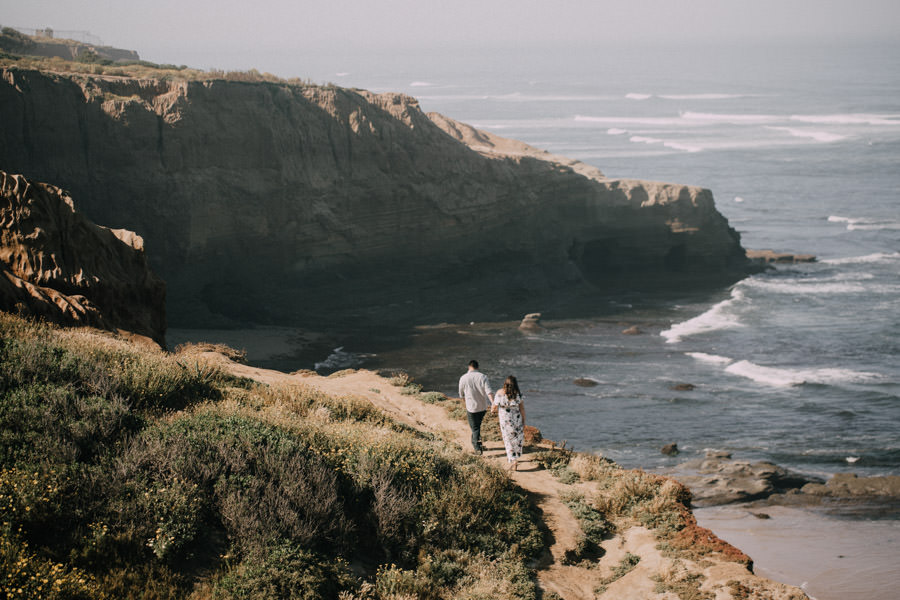 san diego top 7 engagement session locations sunset cliffs springtime
