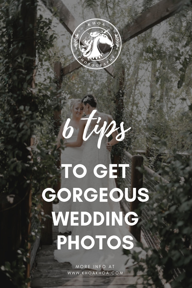 6 tips to get gorgeous wedding photos