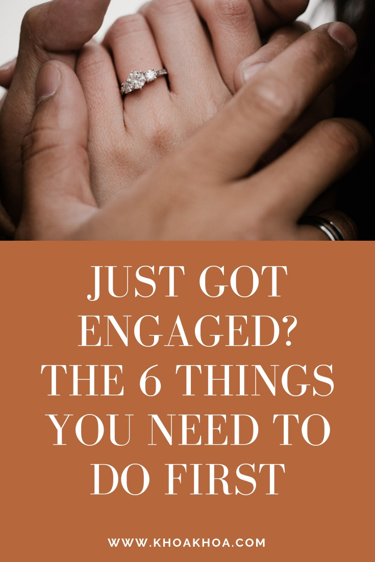 Just got engaged? The 6 things you need to do first cover image