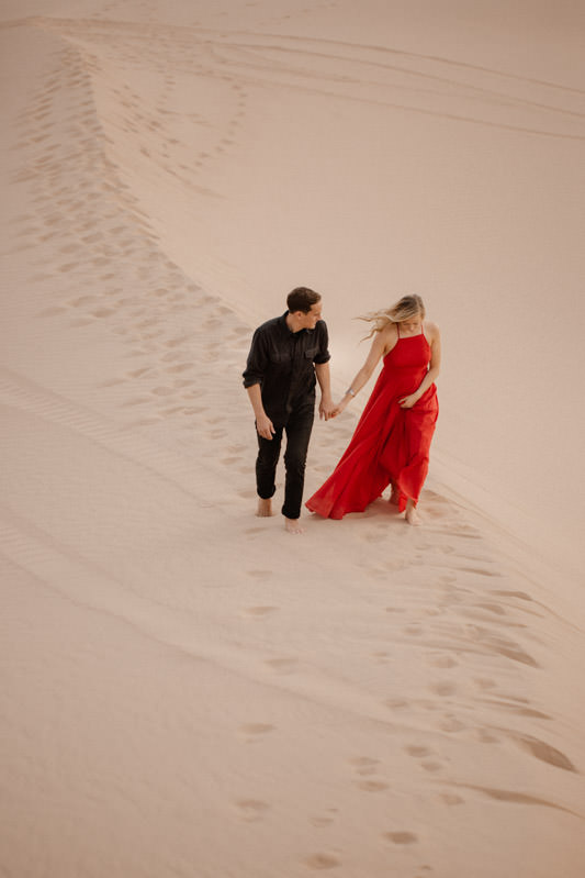 glamis sand dunes engagement session a walk in peace