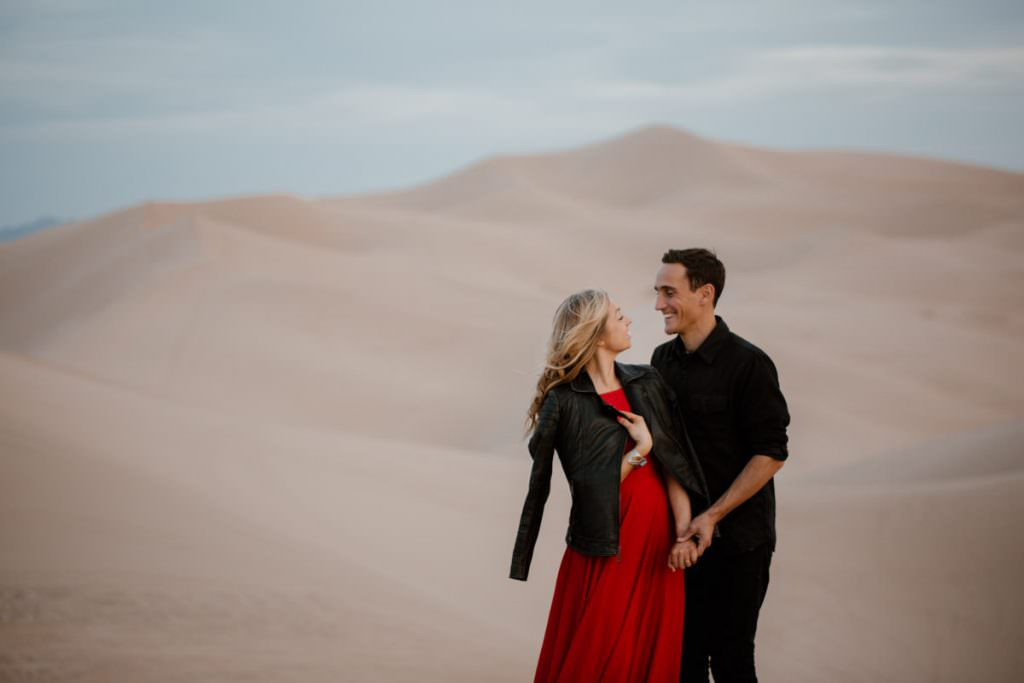 glamis sand dunes engagement session its getting dark
