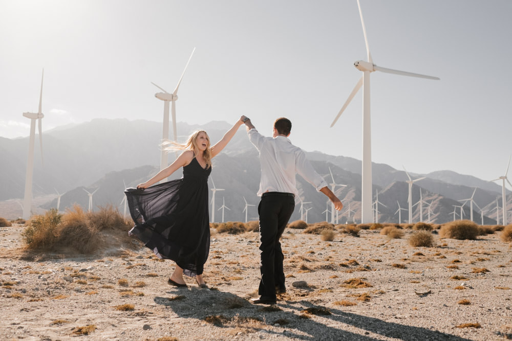 joshua tree + palm springs engagement being wild and free