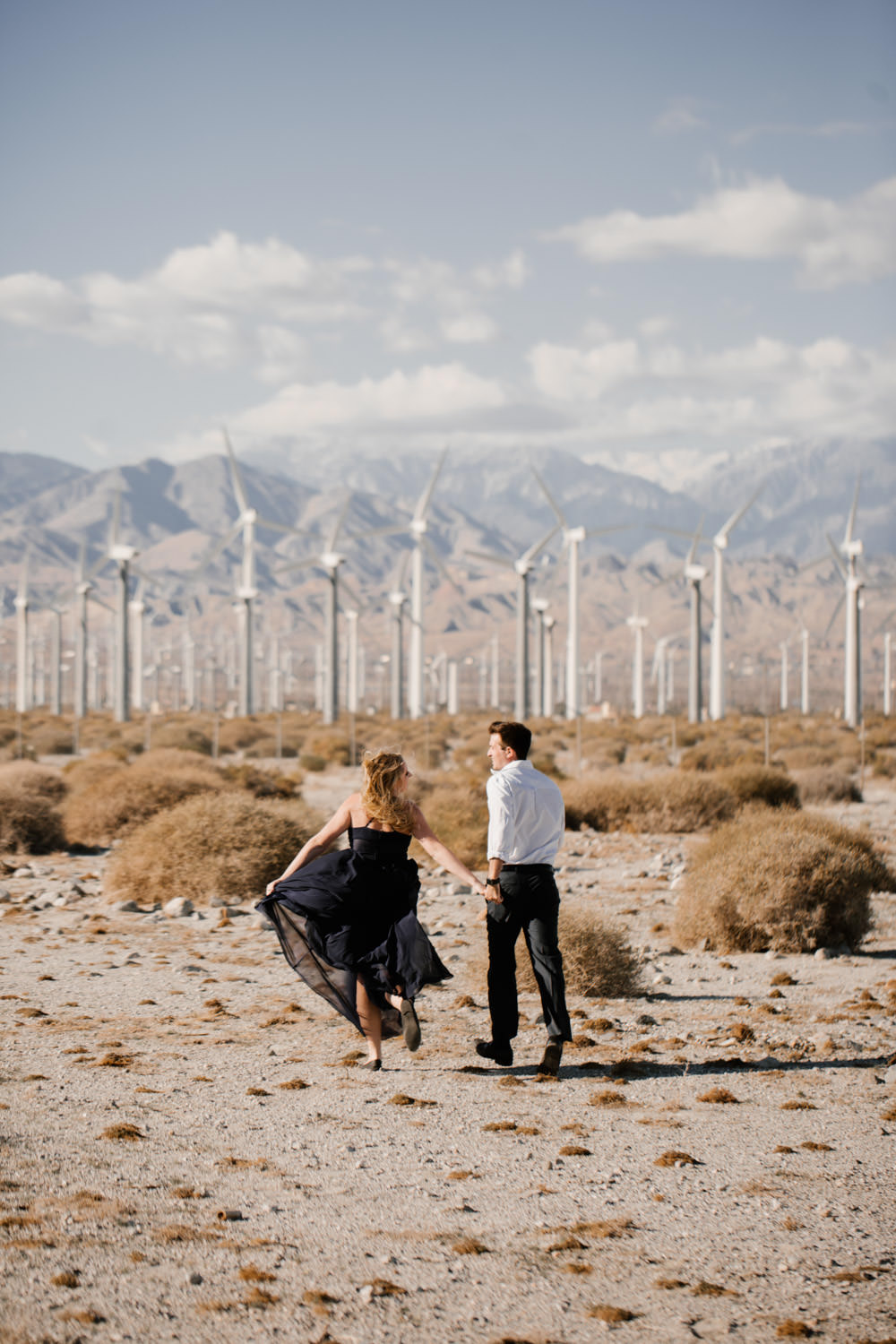 joshua tree + palm springs engagement run away with me
