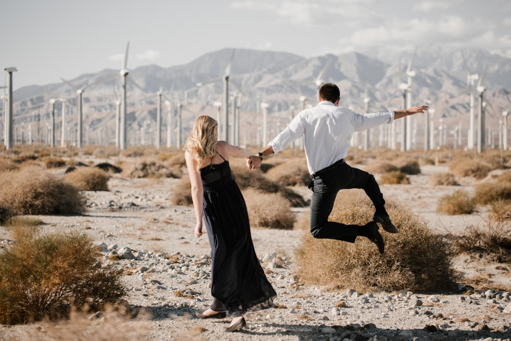 joshua tree + palm springs engagement yassss