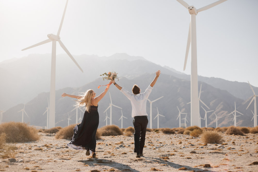 joshua tree + palm springs engagement young wild and free