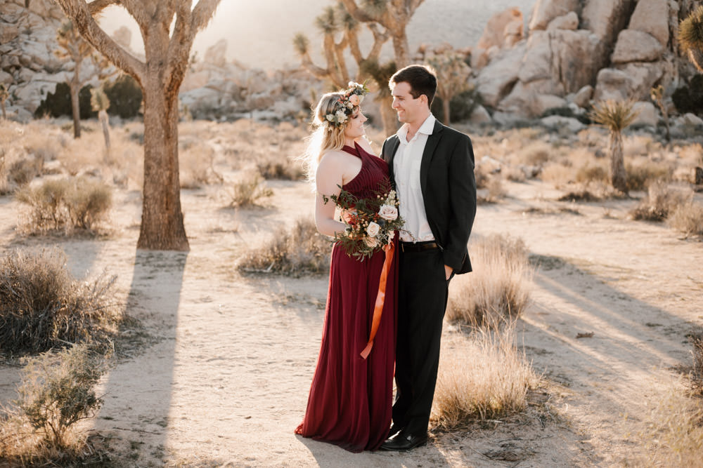 joshua tree + palm springs engagement magic sunset