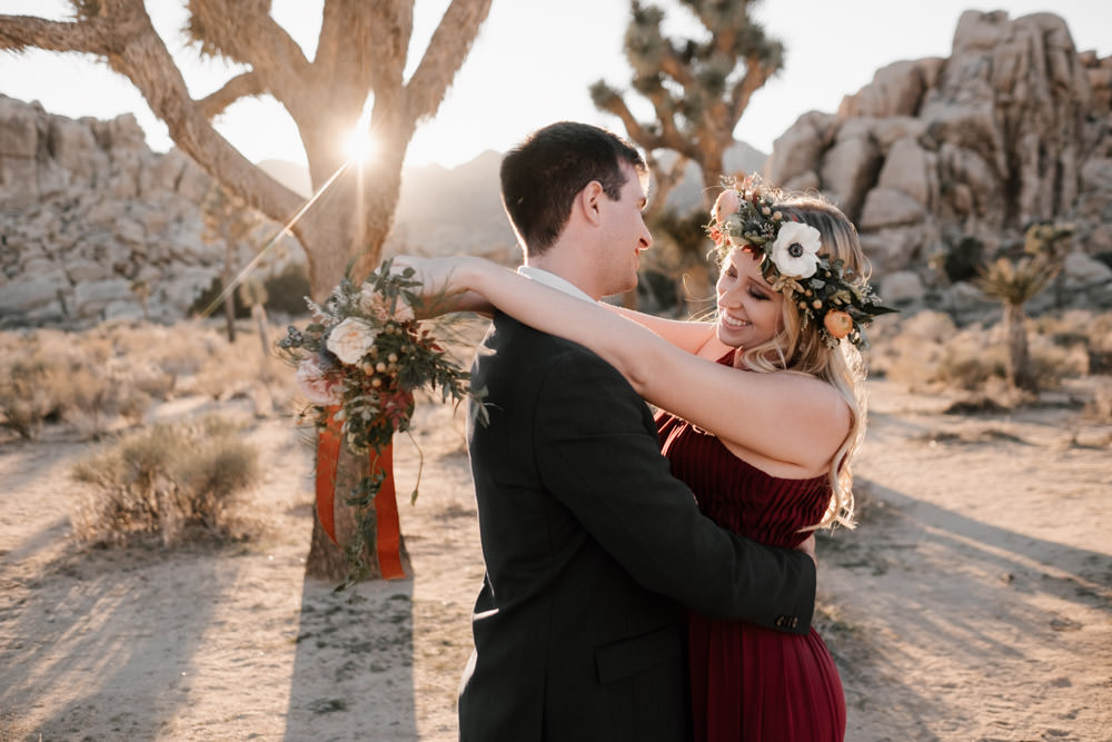 joshua tree + palm springs engagement just beaming with happiness