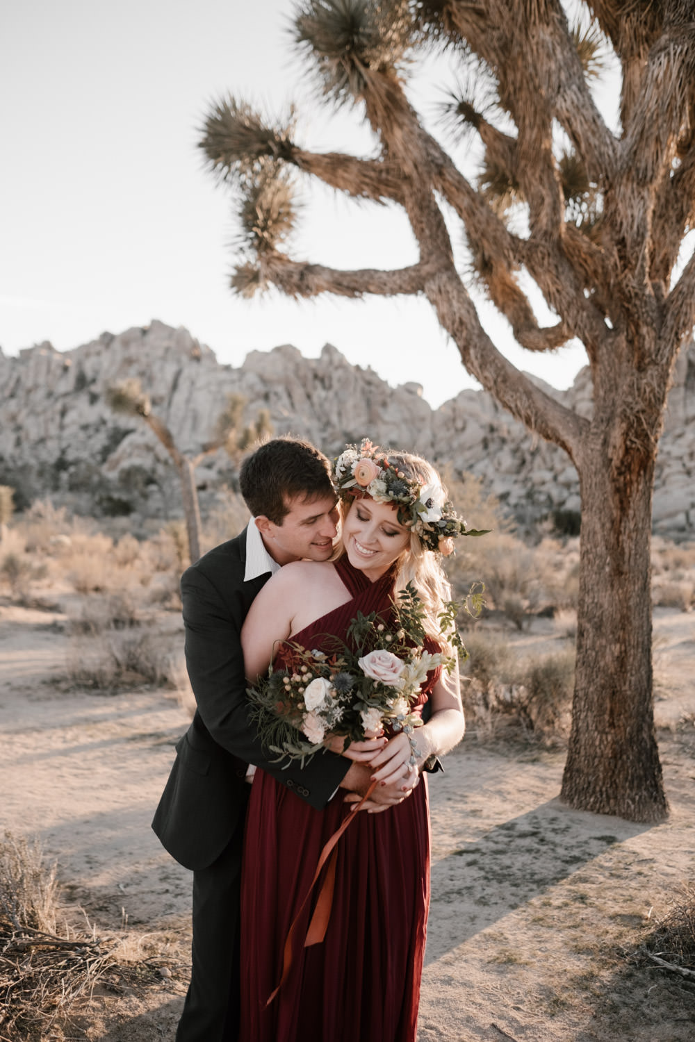 joshua tree + palm springs engagement whispering sweet nothing