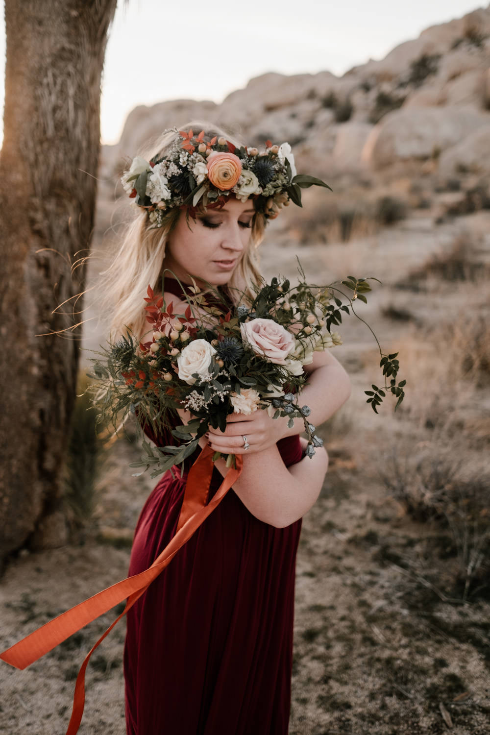 joshua tree + palm springs engagement beautiful portrait