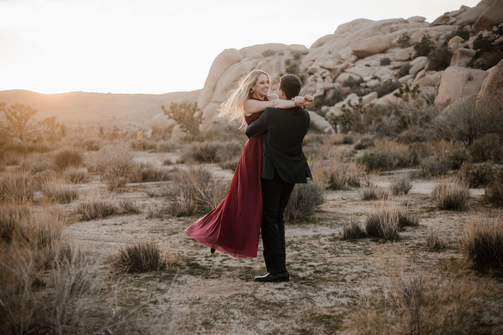 joshua tree + palm springs engagement hold me in your arms