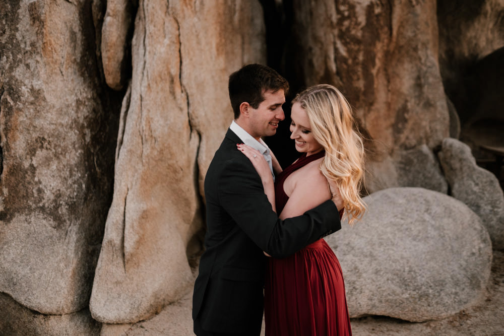joshua tree + palm springs engagement warm each other up