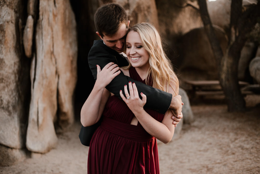 joshua tree + palm springs engagement gotcha