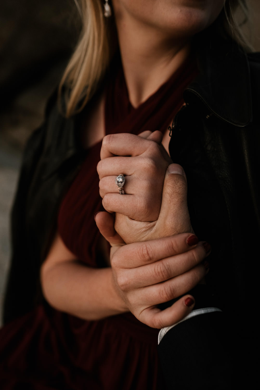 joshua tree + palm springs engagement beautiful ring