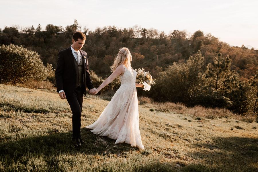 sacred julian wedding sunset portrait