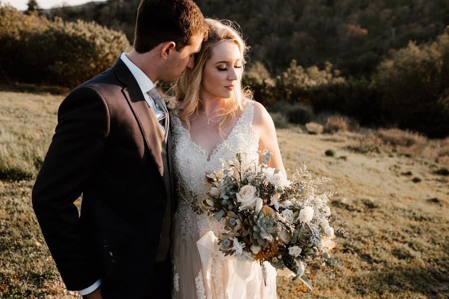 sacred mountain julian wedding bride and groom sunset portrait 7